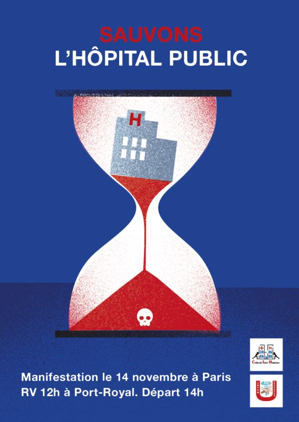 Création d'une affiche pour les manifestations des soignants