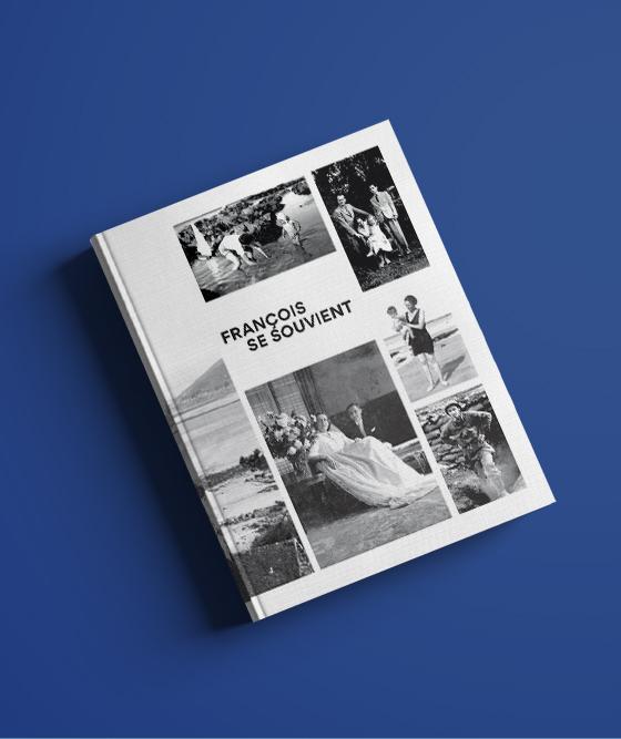 Conception graphique d'un livre sur la vie de François Serrand