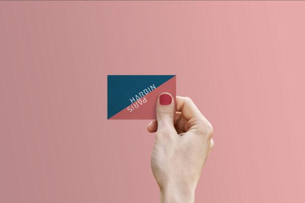 Identité visuelle - logo et cartes de visite pour la marque Harbin Paris